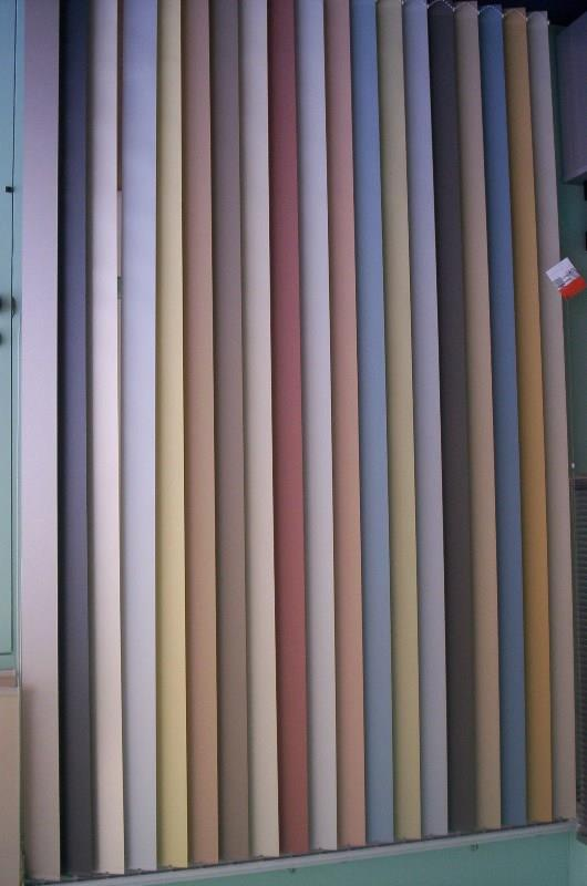 Vertical Blinds block out colour options