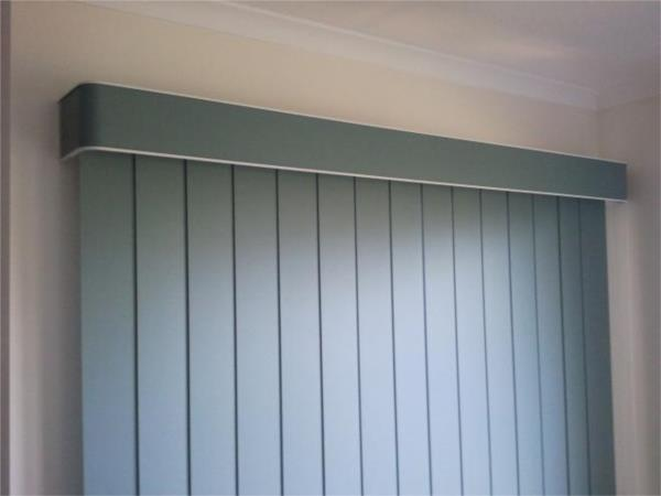 Block Out Vertical Blinds with pelmet