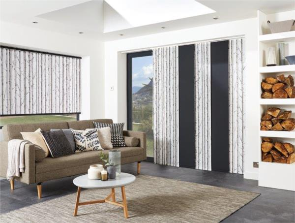 Panel Blinds - Woodland Silver Birch L/F