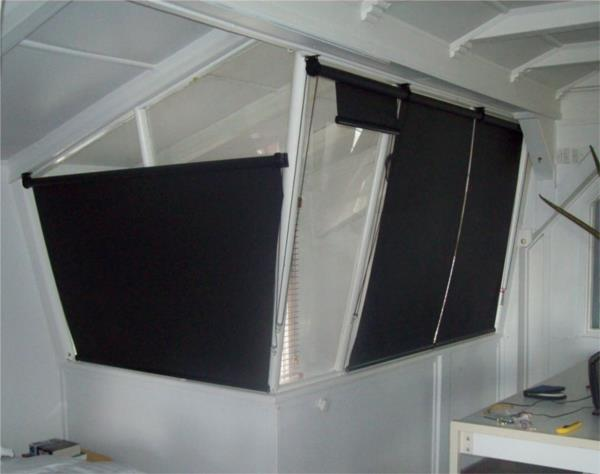 Roller Blinds on angled windows