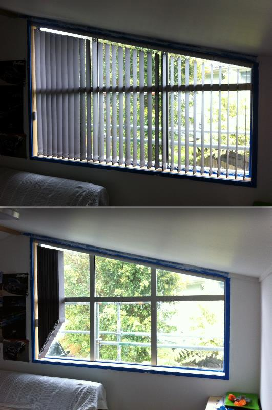 Vertical Blinds on an angled window